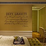 Wicked the Musical Wall Decal Elphaba Defy Gravity Vinyl Wall Art Sticker (Black, Small)