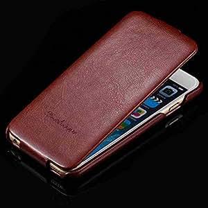 "RCD04317 Top Quality Crazy Horse PU Leather Flip Case for iphone 6 4.7"" Luxury Cover Fashion Logo Retro 50pcs/lot Via Fedex/DHL --- Color:Black"