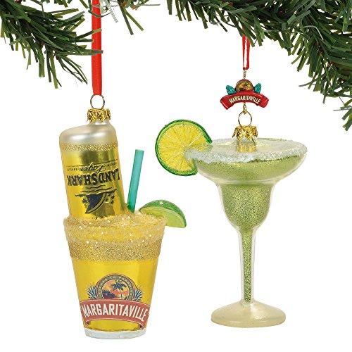 Department 56 Margaritaville Drinks Hanging Ornament Set, 4.13