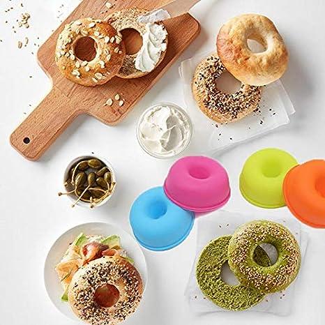 Jlyshop Moule /à donut en silicone anti-adh/ésif 24 pi/èces Moule /à cupcakes Moule /à donut Sans BAP Petite taille pour enfants Cadeau de No/ël