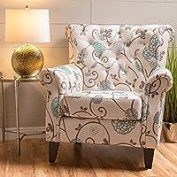 Christopher Knight Home 299261 Merritt Arm Chair, White/Blue