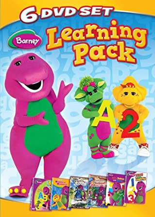 Amazoncom Barney Six Dvd Learning Pack Now I Know My Abcs