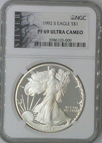 1992 S American Eagle $1 PF69 NGC PF