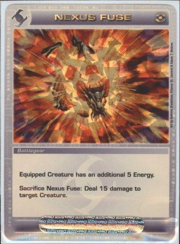 NEXUS FUSE Chaotic Premium Edition Season 1 Super Rare Gold Foil Card & Unused Code (Random Stats)