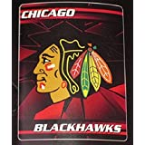 "NHL Officially Licensed Chicago Blackhawks 50"" X 60"" Broken Ice Fleece Throw"