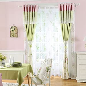 Lace Princess Bedroom Window Curtains For Living Room Romantic Pink Green Curtain Panels Wedding CountryDrapes Blackout Girl Baby Infant Kid