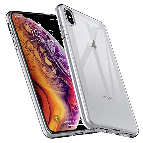DGtle iPhone Xs Max Case,[Anti-Scratches] Premium Flexible Soft Rubber Silicone Ultra Slim Crystal Gel TPU Protective Cover Anti Slip for iPhone Xs Max (Clear)