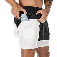 Superora Pantalones Cortos Hombre Deporte Chándal Deportivos Compresión