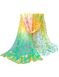 DKmagic Women Printed Soft Chiffon Shawl Wraps Scarf Scarves