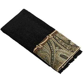 Avanti Linens Bradford Fingertip Towel, Black