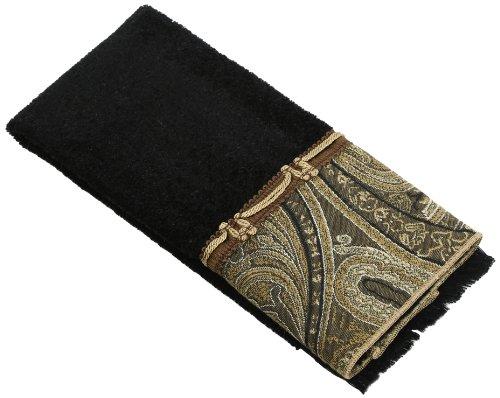 Avanti Linens Bradford Fingertip Towel, Black (Avanti Black compare prices)