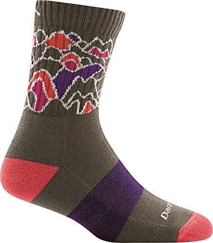 (Darn Tough Coolmax Zuni Micro Crew Cushion Sock - Women's Taupe Small)