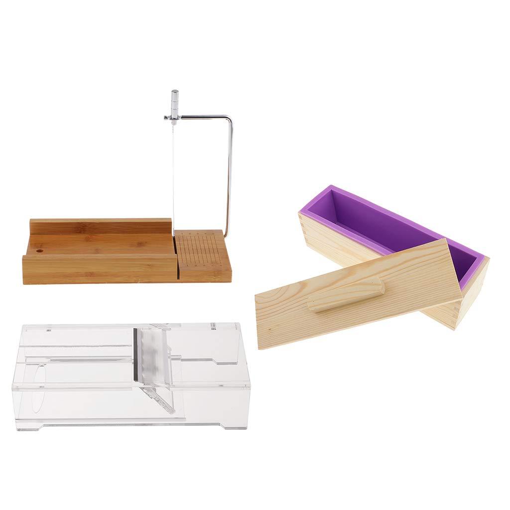 SM SunniMix 3pcs/Set Acrylic Beveler Planer + Soap Cutter Wire Slicer + Handmade Soap Making Loaf Mould