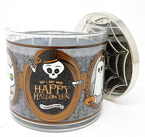 Bath & Body Works Happy Halloween 2017 Sweet Cinnamon Pumpkin Candle 3 Wick 14.5 Ounce -