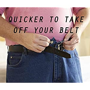 "Sister Selected Invisible Belt No Buckle - No Show Belt Half Belt Lays Flat Under Black Fitted Adjustable Snap Belt for Men and Women, Maternity, Elderly Person, Patient. (25"" - 44"", Black)"
