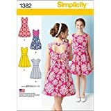 Simplicity us1382aa Taille AA Plus fille robe avec dos Variations