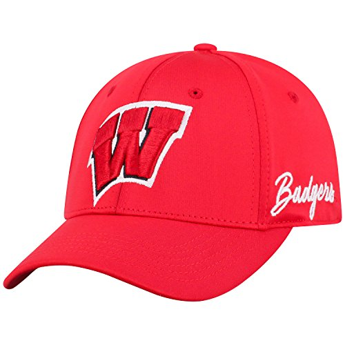 Wisconsin Badger Logo Watch - Top of the World Wisconsin Badgers Phenom Memory Fit 1Fit Hat