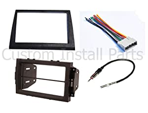 Double Din Aftermarket Radio Stereo Navigation Bezel Conversion Dash Kit Fitted For Jeep Commander 2006-2007