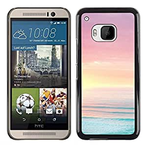 Be Good Phone Accessory // Dura Cáscara cubierta Protectora Caso Carcasa Funda de Protección para HTC One M9 // Sea Ocean Summer Sun Beach Purple