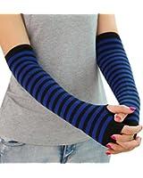 Lisli® Women Winter Warm Fingerless Knitted Long Gloves Mitten Wrist Arm Hand Warmer