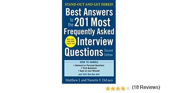 Amazon.com: Best Answers to the 201 Most Frequently Asked ...