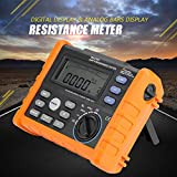 PM2302 Digital Resistance Meter Ground Earth Tester 0-4K ohm Insulation Tester Multimeter with LCD Backlight Display