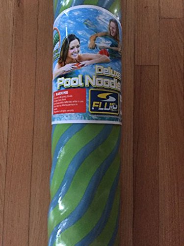 Fluid Aquatics Deluxe Pool Noodle 2 tone color Blue and Green