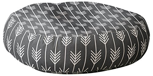 Deny Designs Holli Zollinger Arrows Grey Floor Pillow by Deny Designs