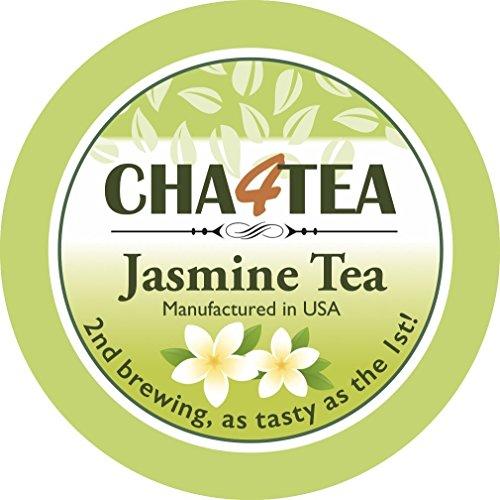 Cha4TEA Jasmine Green Tea K Cups for Keurig K-Cup, 18 Count