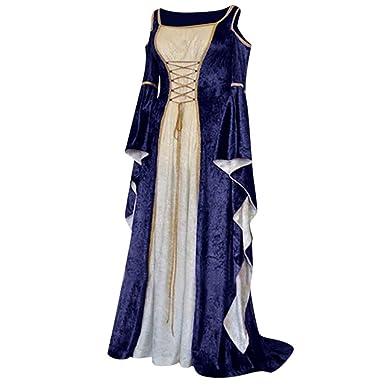 OPAKY Vestido Victoriano Mujer Vestido Largo Vestido de ...