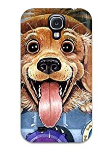 DPXmhNp597DEtGV Snap On Case Cover Skin For Galaxy S4(dogs S)