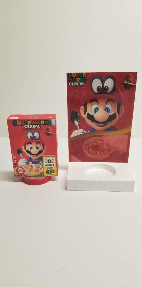 Super Mario Cereal Amiibo and Stand