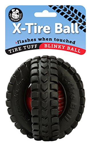 Pet Qwerks Blinky X-Tire Ball Dog Toy