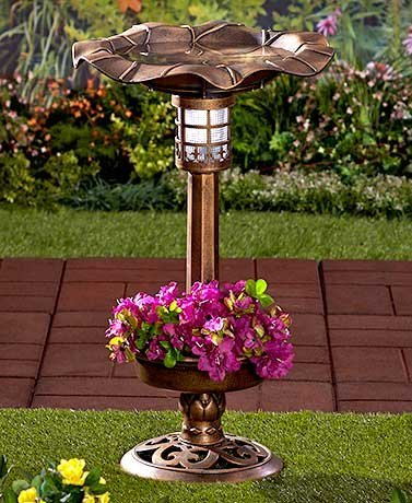 Bird Bath Solar Light in Florida - 7