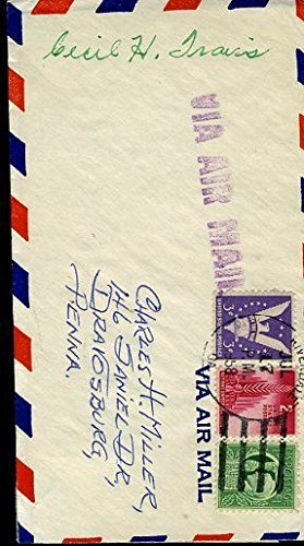 CECIL TRAVIS SIGNED CUT JSA CERT STICKER POSTMARKED ENVELOPE AUTOGRAPH