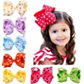 CellElection 16pcs 6 Inch Dot Bow Hairpin Headwear Baby Hair Clips for Girls Kids Hair Barrettes Accessories