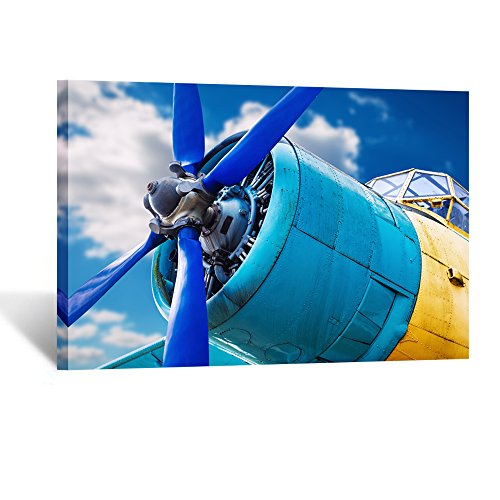 Kreative Arts Large Airplane Canvas Prints Gallery Wrapped Wall Art Aviation Plane F