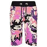 A2Z 4 Kids Kids Shorts Girls Boys Camouflage Print Cotton Chino Shorts - A2Z Camo Shorts Baby Pink - 11-12 Years