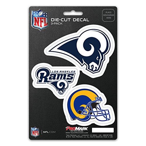 NFL Los Angeles Rams Team Decal, 3-Packteam Decal, 3 Pack, Blue, 5