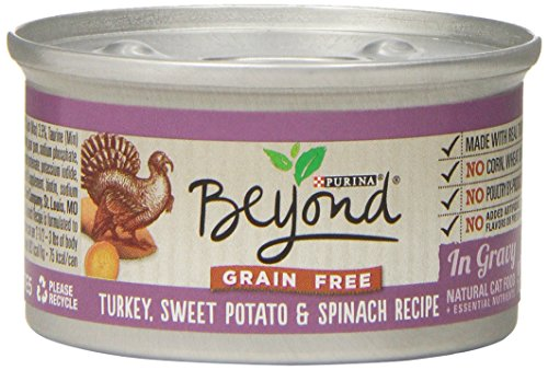 Purina Beyond Natural Canned Cat Food, Grain Free, Turkey, Sweet Potato and Spinach Recipe, 3-Ounce Can, Pack of 12