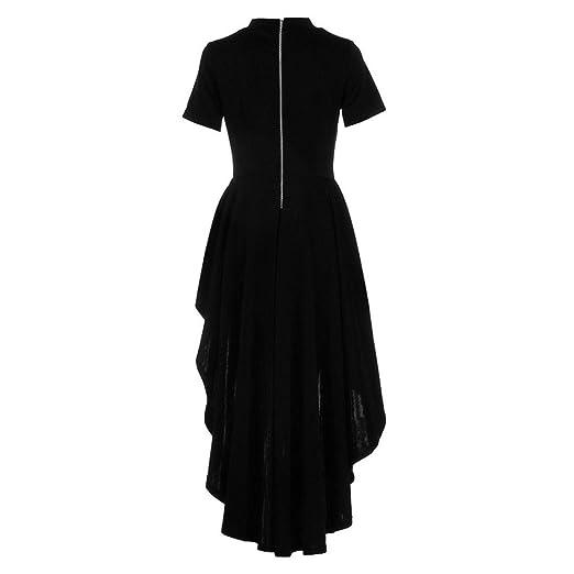 Yesmile 💋💝Vestido de Mujer Falda Blanco Ropa Vestido Elegante de Noche para Boda Fista Vestido Largo de Manga Corta para Mujer con Alto Peplum Bodycon ...