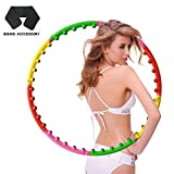 nine river Fitness Hula Hoop for Adult with Massage balls: Fun Exercise For Weight Loss-2lbs-8 Section Detachable Design