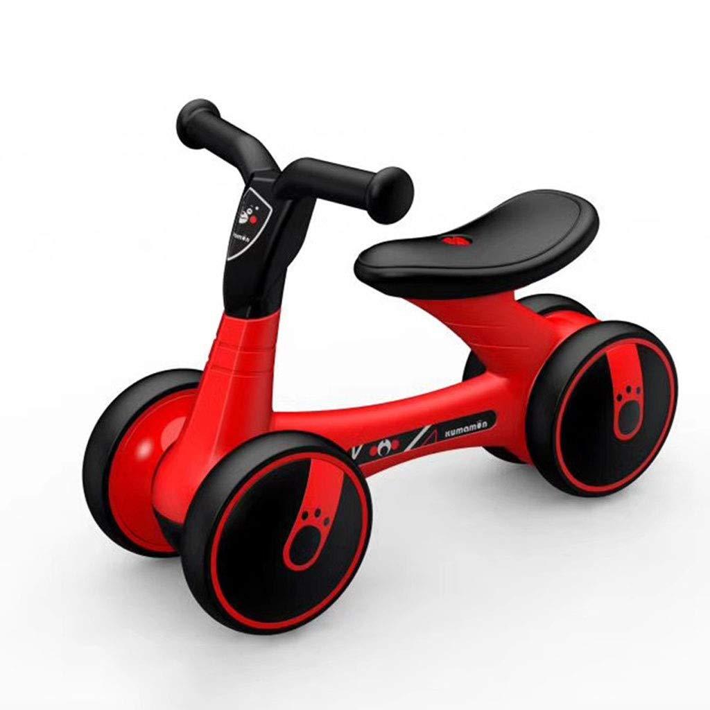 バランスサイクリング - (A 1-3歳の少女のバランス車用)子供のバランスバイク、ガールバランスカー、1-3歳児の学習屋内/屋外自転車に適し (Color : 黒 赤) 黒 赤