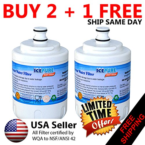 Ice Pure #1 in Fridge Filters & Air Filters | Discount Filters | WHIRLPOOL, MAYTAG, JENN-AIR, AMANA Fridge Filter UKF7003--- Compatible Refrigerator Water Filter ( RWF1600A ) 2-PACK - Maytag Ukf7003 Refrigerator