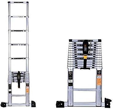 Escalera telescópica, Las escaleras de aleación de aluminio telescópica Fold hogar cubierta del ático recta General Perfil Ingeniería aire libre (Color : 2m): Amazon.es: Bricolaje y herramientas