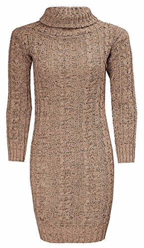 Generic - Robe - Robe Pull - Manches Longues - Femme Moka