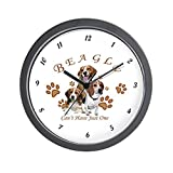 CafePress – Beagle Can't Have Just One – Unique Decorative 10″ Wall Clock For Sale