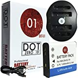 DOT-01 Brand Sony DC-RX0 Battery and Dual Slot USB Charger for Sony DC-RX0 Action and Sony RX0 Battery and Charger Bundle for Sony BJ1 NP-BJ1