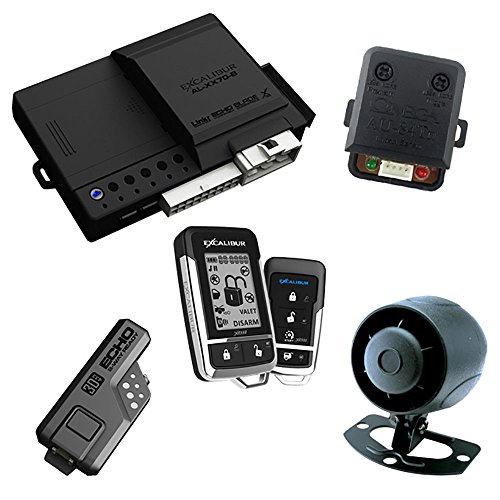 Excalibur AL18703DB 2-Way Paging Start/Keyless Entry/Vehicle Security System (with 2 Button LCD Sidekick Remote) (Excalibur Alarm)