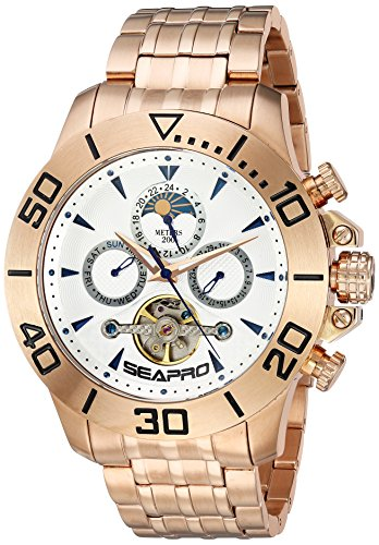 Seapro Men's 'Montecillo' Automatic Stainless Steel Casual Watch, Color:Rose Gold-Toned (Model: SP5135)